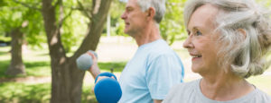 Image of elderly couple working out with Heart to Heart cardiac physiotherapy